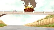 S4E18.060 Flaming Cars Roadblock