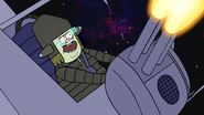 S6E24.444 Muscle Man Happily Firing the Quad Cannon