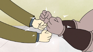 S6E16.063 Archie and Reel-to-Reel Double Fist Bumping