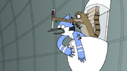 S7E05.392 Rigby Retrieving the Blowgun From Benson