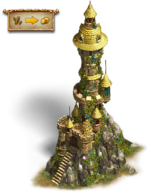 Gold tower small