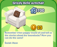Grizzly Belle armchair