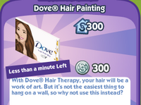 Dove Hair Painting