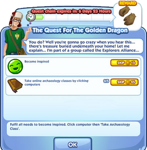 The Quest For The Golden Dragon
