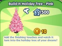 Build-It Holiday Tree - Pink
