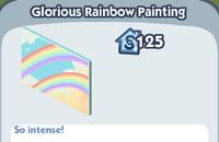 Glorious rainbow painting