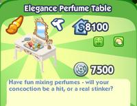 Elegance Perfume Table