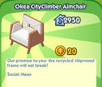 Okea CityClimber Aimchair