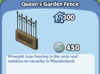 Queens Garden Fence