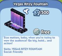 Vegas Ritzy Fountain