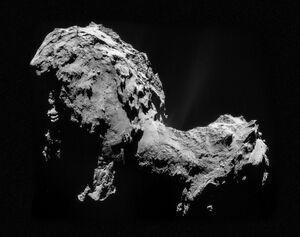 Comet 67P on 19 September 2014 NavCam mosaic