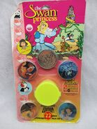 NEW In Distressed Box 1994 THE SWAN PRINCESS 22 Piece Milk Caps Full Color POGS