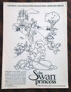 Swan princess coloring page