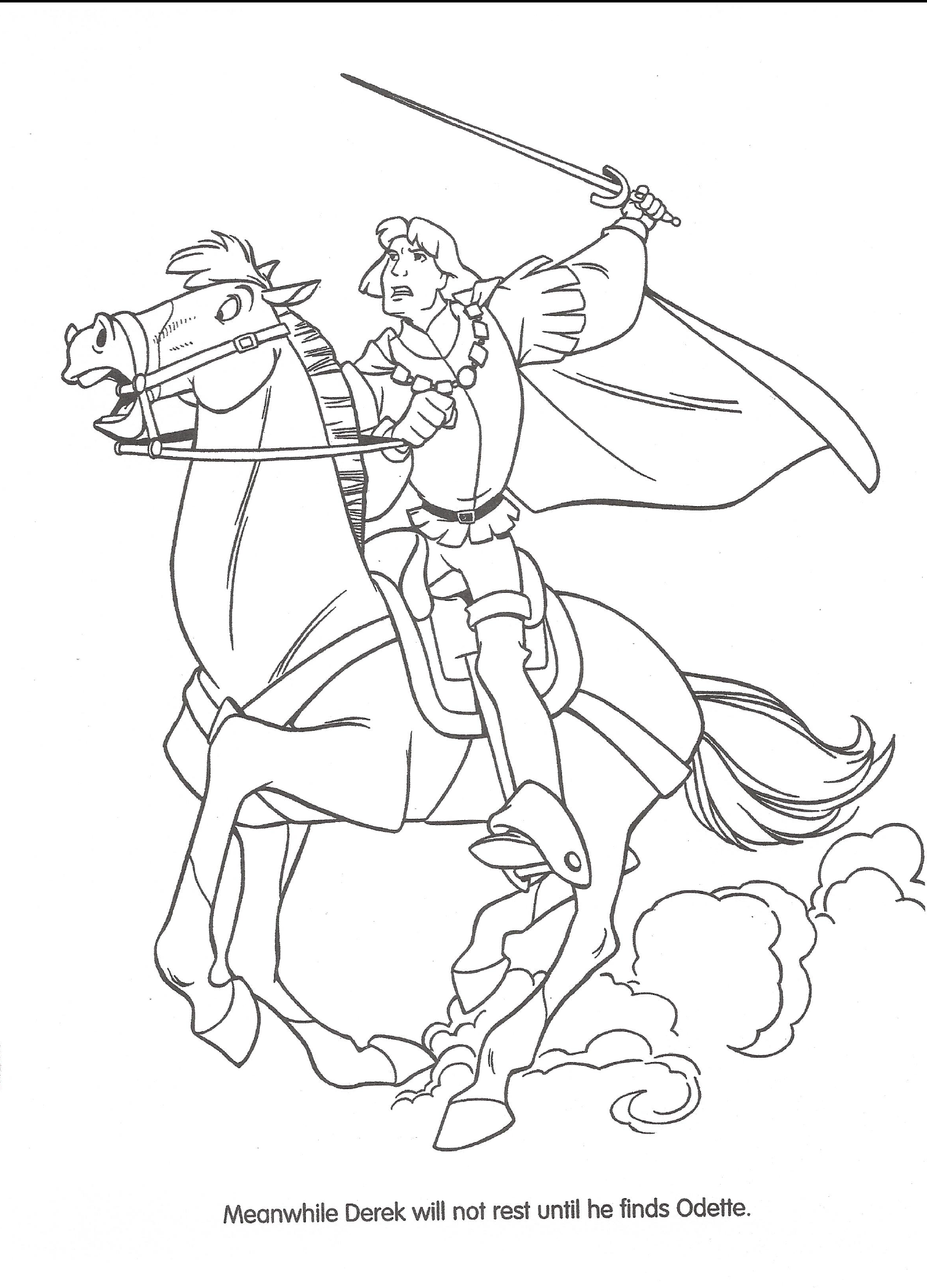 Swan princess coloring pages free - File Swan Princess Official Coloring Page 24 Png
