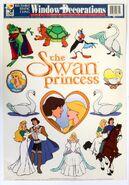 Vintage Swan Princess Window Decals front