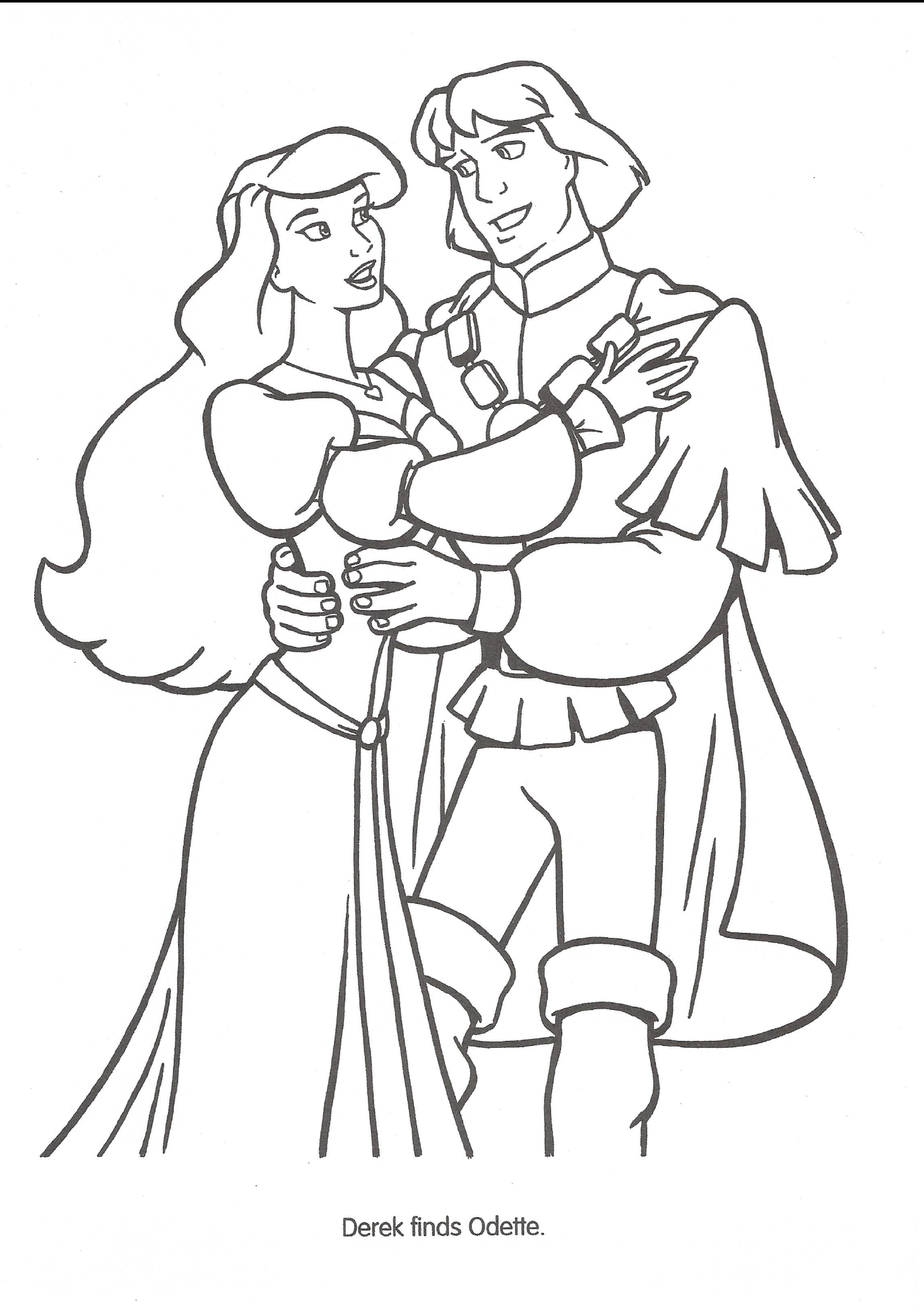 swan princess coloring pages free - photo#27