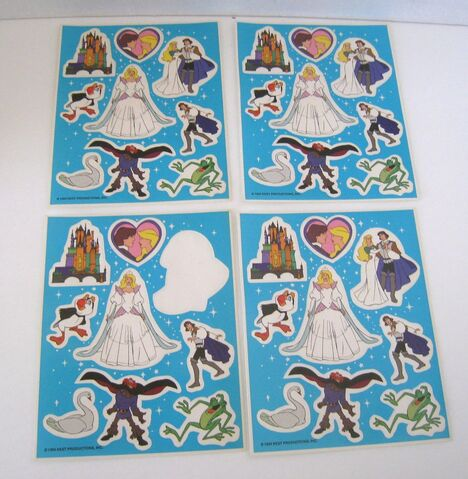 File:THE SWAN PRINCESS 1994 Stickers 4 Pages NEST Production Rare!.jpg