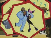 Jinx and cyborg dance