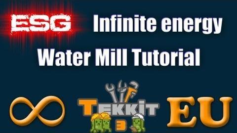 ESG - Tekkit Infinite Energy Water Mill Tutorial 3.1