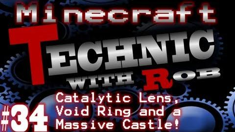 Minecraft Technic Part 34 Catalytic Lens, Void Ring and a Massive Castle!
