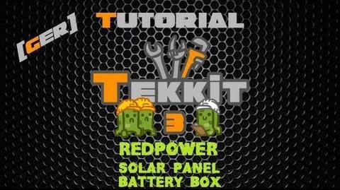 Minecraft Tekkit Classic Tutorial DE HD - RedPower Solar Panel und Battery Box