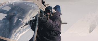 Lars shoots at the dog from the air - The Thing (2011)