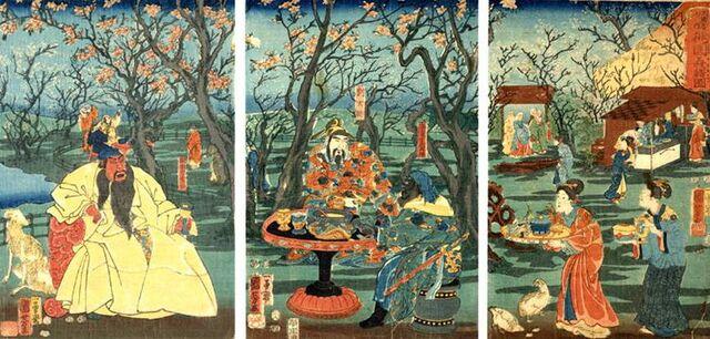 File:Peach Garden Oath - Tsukioka Yoshitoshi.jpg