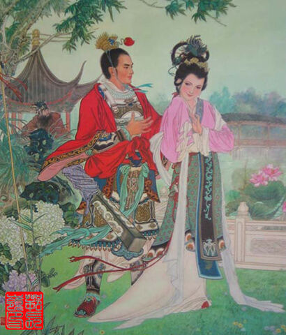 File:Diaochan and Lü Bu painting.jpg