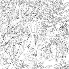 Celaena at Nehemia's grave