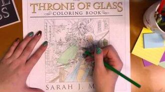 Sneak Peek at the Throne of Glass Coloring Book!