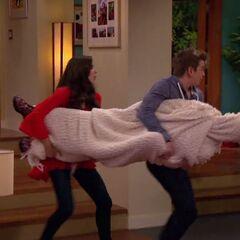 Phoebe and Max hiding frozen Cherry
