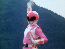 A pink mighty morphin