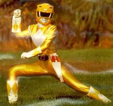 A yellow mighty morphin