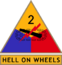 2nd Armored Division (detached tab, olive drab border)