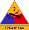 3rd Armored Division (detached tab, olive drab border)