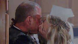 Stitch & Ashley kiss in inferno