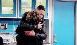 Lily Jordan hugging
