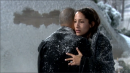 Lily and Devon hug