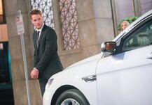 Adam hit by Chloe's Rental Car