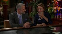 Gloria flirts with Graham