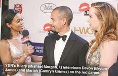 Hilary interviews Devon Mariah Red Carpet