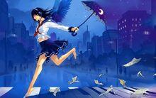 7005787-brunette-anime-girl-umbrella-headphones-music-artwork