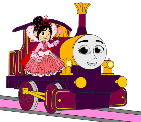 File:Lady with Princess Vanellope.png