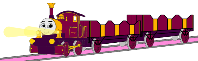 File:Lady with her Double Open-Topped Carriage & Shining Gold Lamps (Mirrored).png