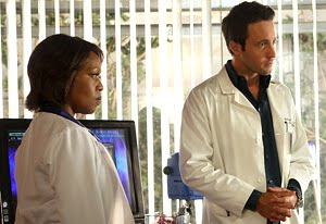 File:Dr Sophia Jordan Alfre Woodard Dr Andy Yablonski Alex O'Loughlin Three Rivers TV Show CBS Network Series Promo Photograph.jpg