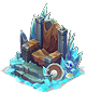 Frozen throne decor