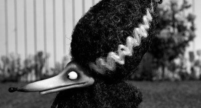 Elvira style dog Tim Burton Frankenweenie