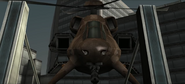 Crisis Zone attack helicopter (PS2 version)