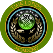Timelords Academy with Gallifreyan symbol