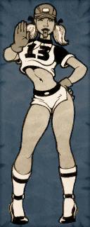 Whistle Girl Cardboard Character